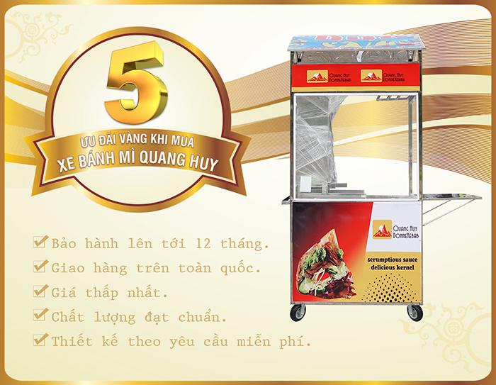 Những ưu đãi hấp dẫn khi mua xe bán bánh mì tại Quang Huy Plaza