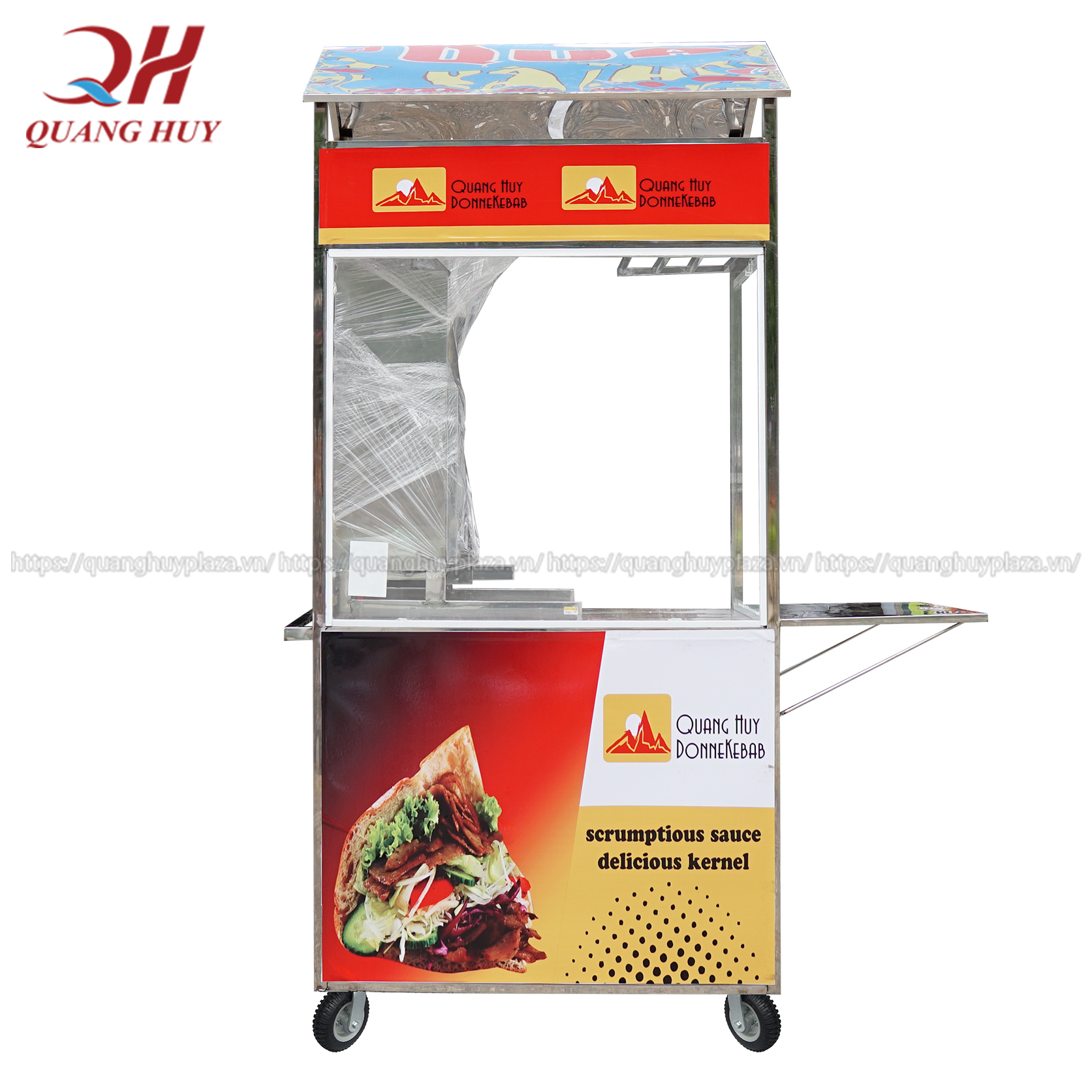 xe bánh mì thổ nhĩ kỳ 90cm với thiết kế gọn mới mẻ tiện lợi