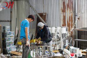 Quang Huy hiện nay là cơ sở hàng đầu trong việc sản xuất và lắp ráp lò nướng thịt