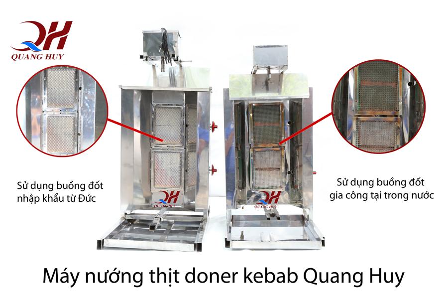 Sự khác biệt giữa lò nướng thịt Doner Kebab trong nước và nhập khẩu