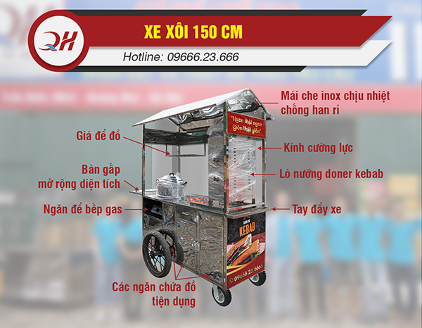 Cấu tạo cơ bản của xe bán xôi tại Quang Huy
