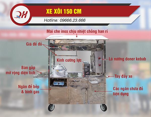 Đặc điểm cấu tạo của xe bán xôi tại Quang Huy