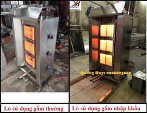 Lò nướng thịt Quang Huy sử dụng gốm nhập khẩu chất lượng cao