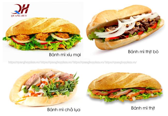 Hiện nay có rất nhiều loại bánh mì