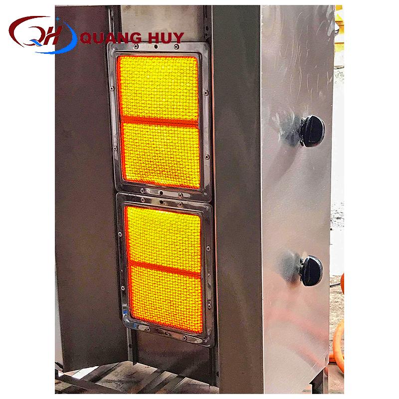 Lò đốt 2 buồng của xe bánh mỳ Thổ Nhĩ Kỳ 1,3m được làm từ gốm nhập khẩu từ Đức đảm bảo độ bền và an toàn