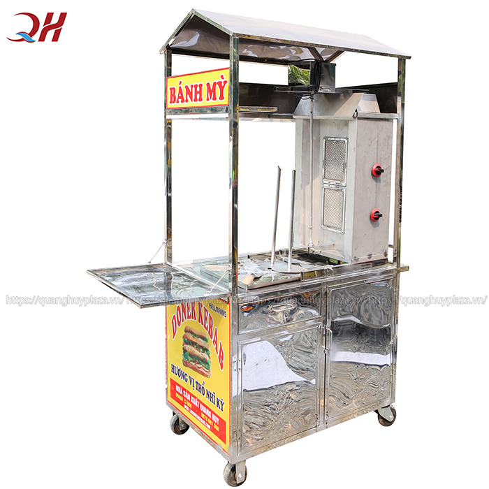 Xe được bố trí lò nướng Doner Kebab 2 buồng đốt