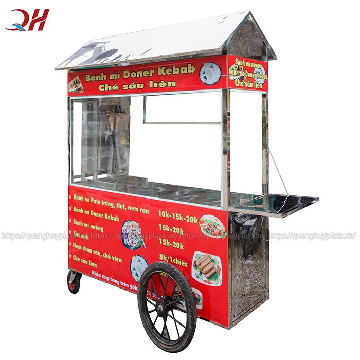 Xe bánh mì Doner Kebab 1m8 mang đến cho bạn 1 không gian rộng rãi thoải mái