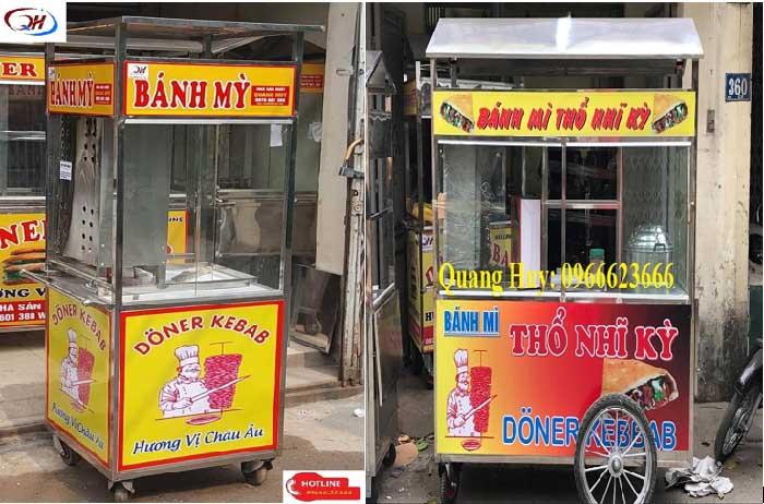 mẫu xe bánh mì doner kebab