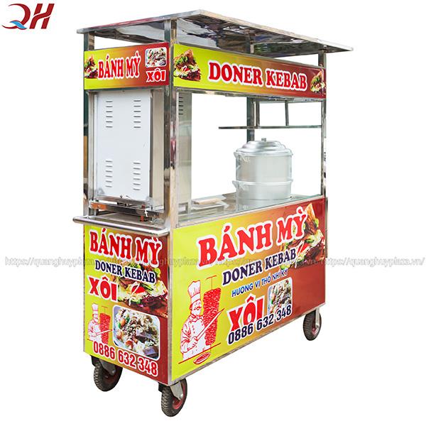 Xe bán xôi bán bánh mì 1m2 với kích thước nhỏ gọn, dễ dàng di chuyển
