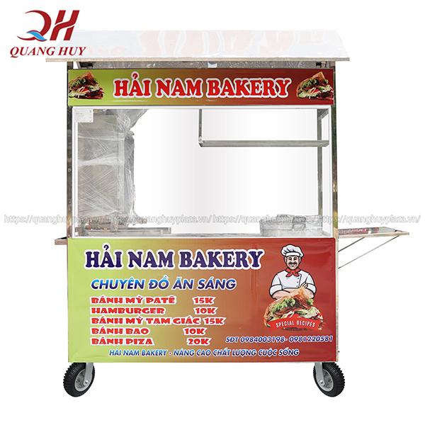 Xe bán xôi bán bánh mì thiết kế theo yêu cầu của khách hàng