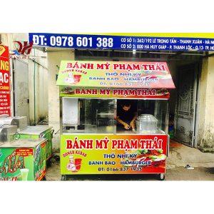 Xe bán xôi bán bánh mì 1m8 Quang Huy