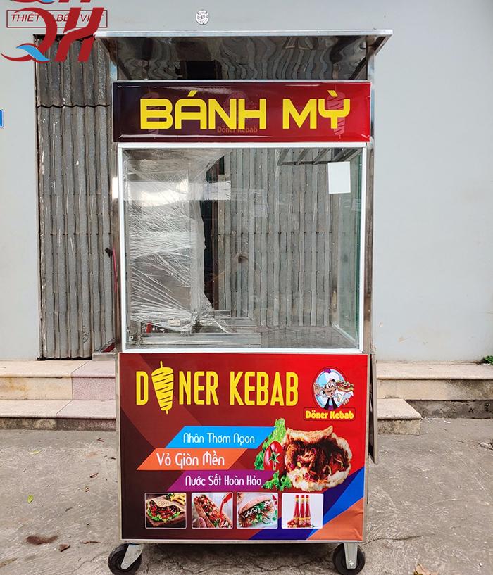 Xe bánh mì Doner Kebab 1m1 sản xuất và phân phối bởi Quang Huy