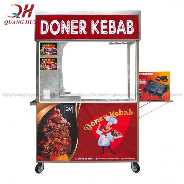 Xe bánh mì Doner Kebab do Quang Huy sản xuất