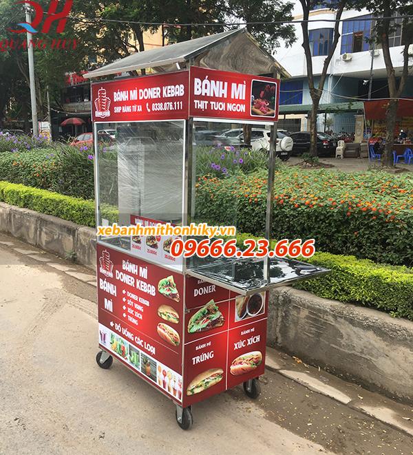 Xe bánh mì thổ nhĩ kỳ 1m phù hợp các hộ kinh doanh nhỏ lẻ