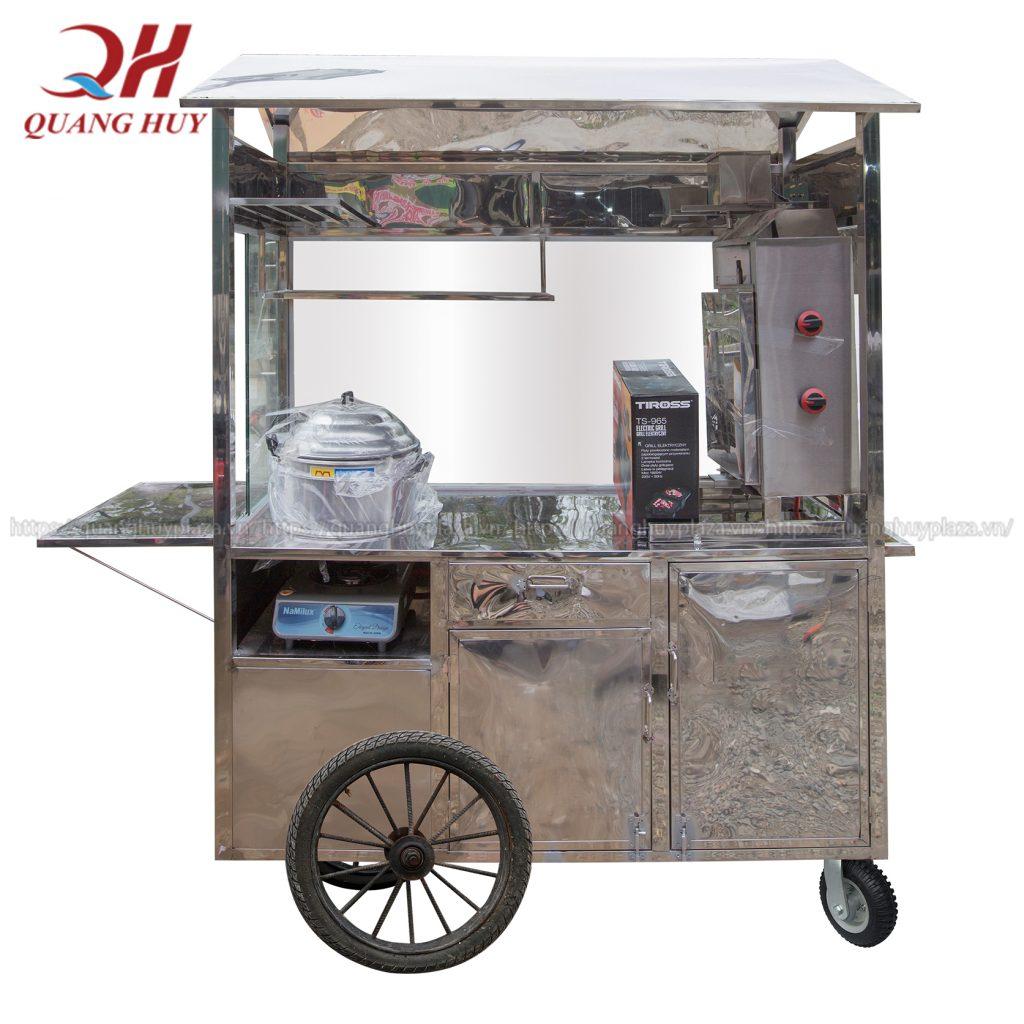 Thiết kế độc đáo của xe đẩy bán xôi Quang Huy