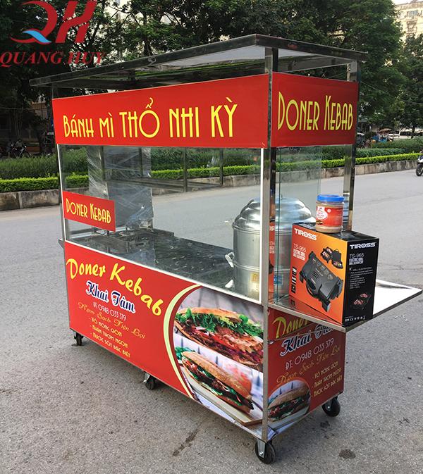 Xe bán xôi bánh mì 2m mang đến cho bạn 1 không gian rộng rãi