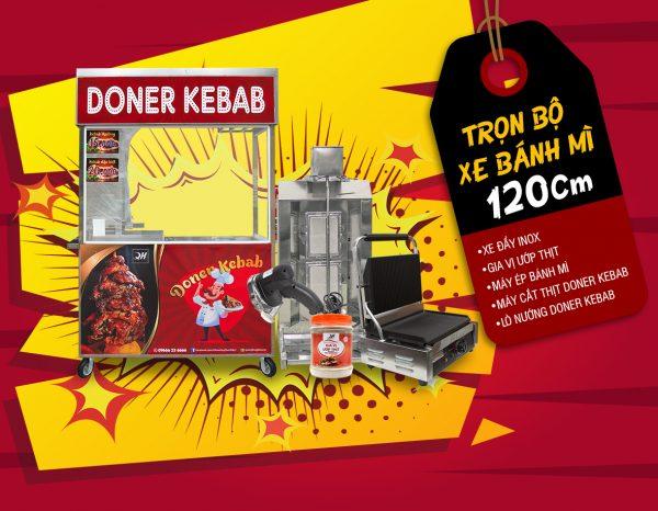 Trọn bộ xe bánh mì Doner Kebab 1m2 của Quang Huy