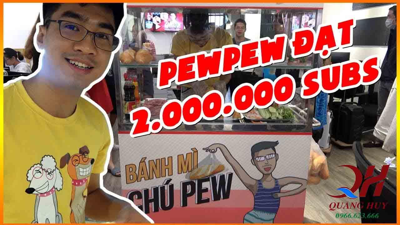 """Khai trương quán """"bánh mì chú Pew"""" nhân dịp kênh Youtube của Pewpew đạt 2 triệu subs"""