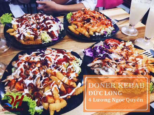 Thực đơn đa dạng nên các bạn sẽ không cảm thấy nhàm chán khi thưởng thức Doner kebab tại đây