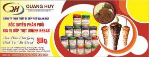 Quang Huy - cơ sở cung cấp gia vị tẩm ướp Doner keabab số 1 thị trường