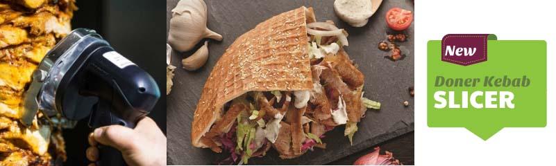Cắt thịt Doner kebab bằng cách hoàn toàn mới nhờ máy cắt thịt cầm tay (ks 100e)