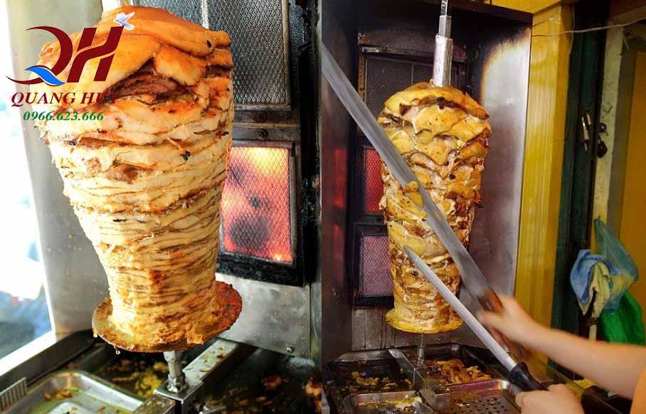 dao thái thịt doner kebab bằng tay