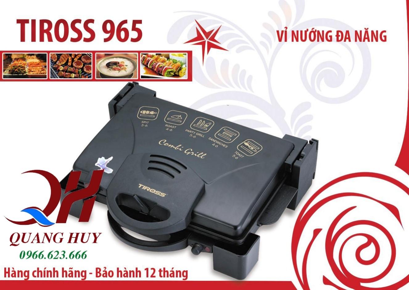 """Vỉ nướng Tiross 965 đa năng cho vỏ bánh mì giòn rụm, nóng hổi """"vừa thổi vừa ăn"""""""