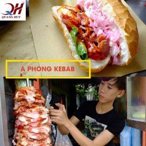 Bánh mì Doner kebab A Phong mang dáng vẻ của bánh mì truyền thống với hương vị Thổ Nhĩ Kỳ