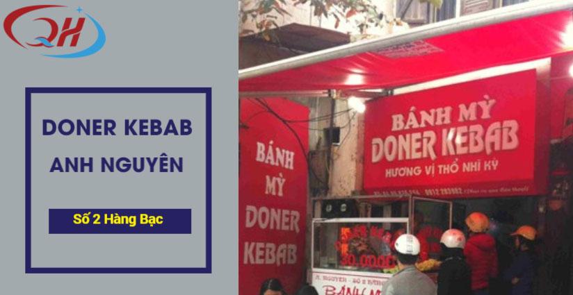 Bánh mì doner kebab tại Hàng Bạc