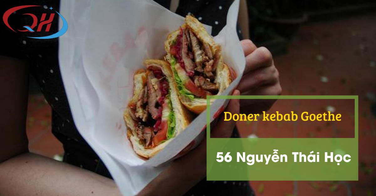 Bánh mì doner kebab ngon tại Nguyễn Thái Học