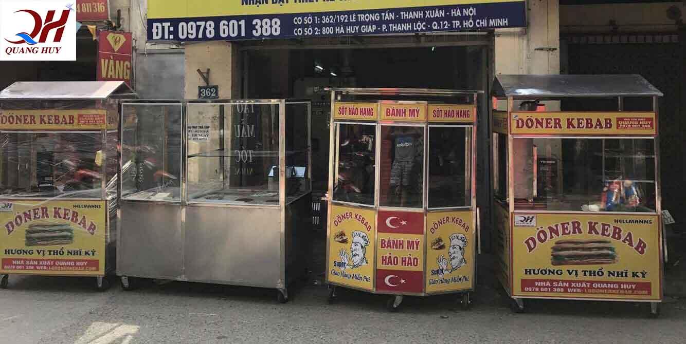 Một vài mẫu xe bánh mì Thổ Nhĩ Kỳ thông dụng với mọi quy mô lớn nhỏ