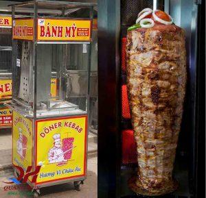 Xe bánh mì thổ nhĩ kỳ mini với lò nướng tiện dụng cho cây thịt Doner kebab hảo hạng