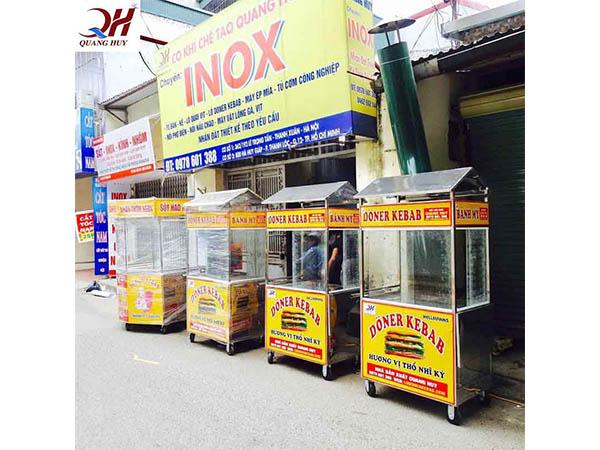 Những mẫu xe bánh mỳ Doner Kebab mini