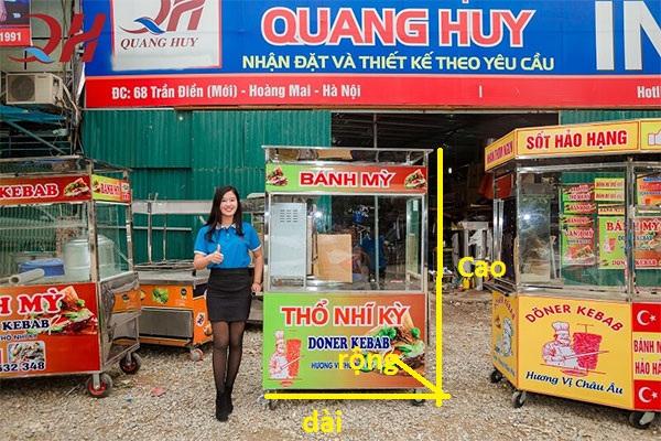 Xe bán bánh mì thổ nhĩ kỳ của Quang Huy với nhiều kích thước mẫu mã khác nhau