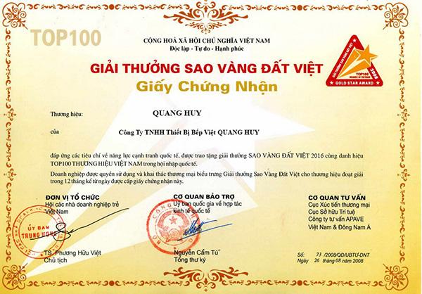 Quang Huy là thương hiệu uy tín lâu năm