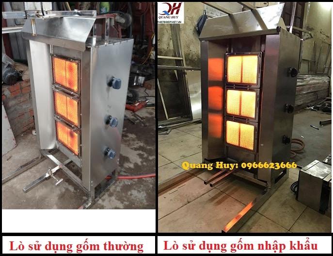 Lò đốt sử dụng gốm chất lượng cao