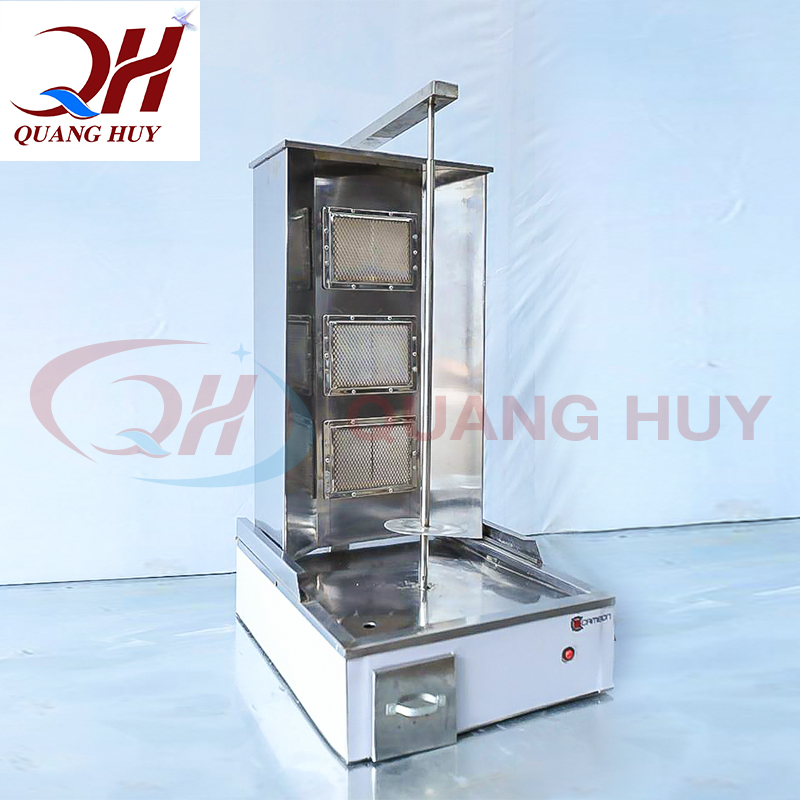 Lò nướng thịt doner kebab Quang Huy được làm từ inox chất lượng cao