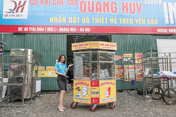Quang Huy thiết kế xe bánh mì theo yêu cầu của khách hàng