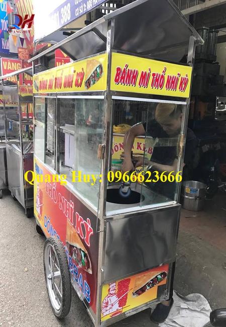 Khung xe bánh mì doner kebab làm từ inox 304