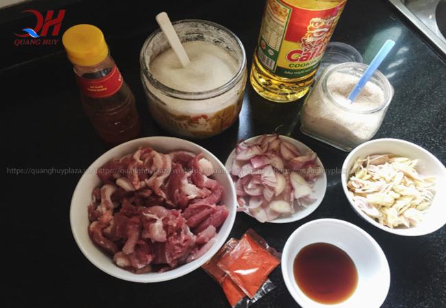 Chuẩn bị nguyên liệu ướp thịt