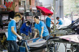 Sản phẩm được sản xuất ngay tại xưởng cơ khí Quang Huy