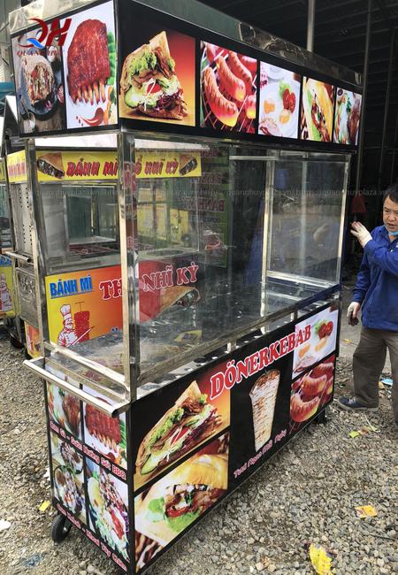 Xe bánh mì thổ nhĩ kỳ mẫu mới 1m5 Quang Huy sẽ mang đến cho bạn nhiều tiện ích