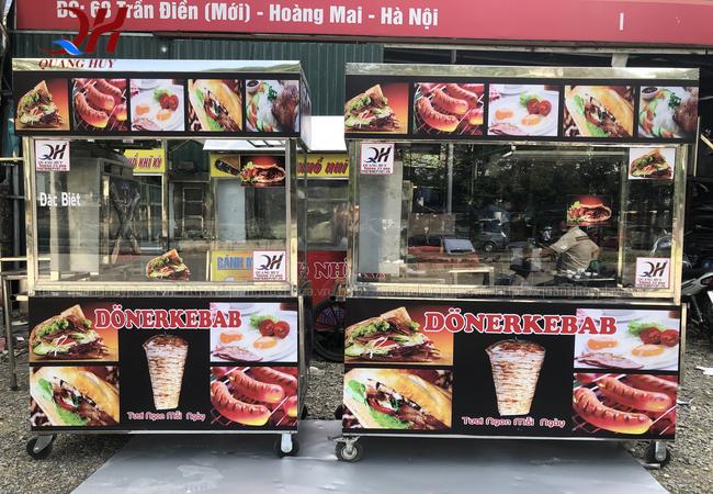 Xe bánh mỳ Doner Kebab mẫu mới cho hộ kinh doanh vừa và nhỏ