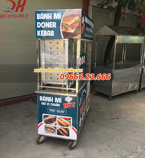 Xe bánh mì thổ nhĩ kỳ 1m5 mẫu mới với thiết kế lò nướng thịt chuyên dụng