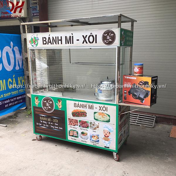 Xe bán xôi bán bánh mì kết hợp được sản xuất tại Quang Huy