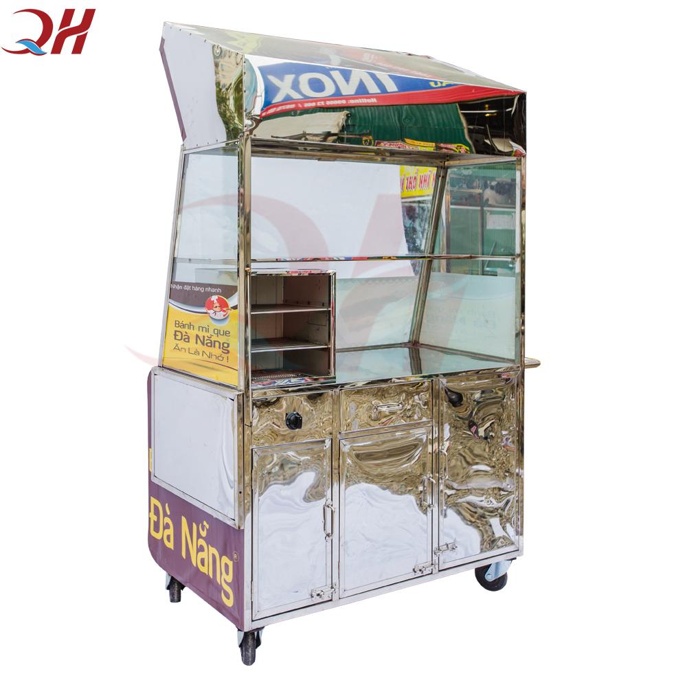 Được làm từ inox chất lượng cao nên xe bánh mì que có tuổi thọ lên đến 10 năm sử dụng