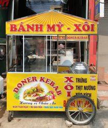 Xe bán xôi bán bánh mì 1m6 Quang Huy