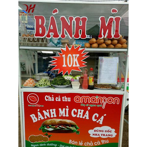 Xe bánh mì chả cá 1m2 Quang Huy