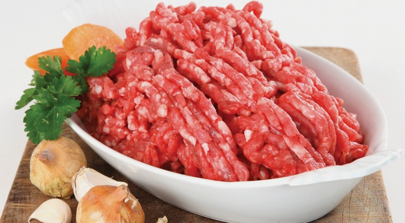 Xay hỗn hợp thịt và gan