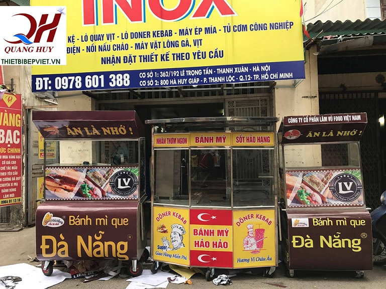 Công ty TNHH Thiết bị bếp Việt Quang Huy - địa chỉ bán xe bánh mì tại hà nội chất lượng cao